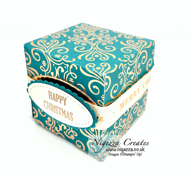 Nigezza Creates with Stampin' Up! Brightly Gleaming Hinged Gift box