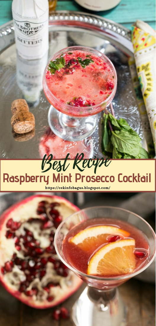 Raspberry Mint Prosecco Cocktail  #healthydrink #easyrecipe #cocktail #smoothie