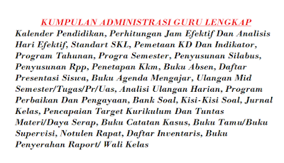 Download Administrasi Guru