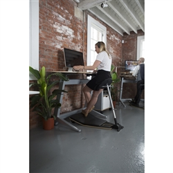 Ergonomically Correct Interior with Standing Desk and Perch Stool