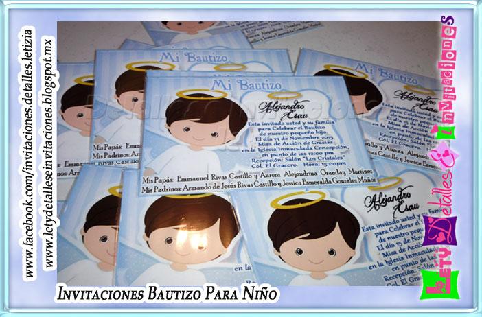 detalles e invitaciones x letici b invitaciones de bautizo angelito