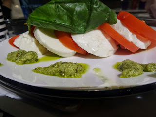 A Caprese Salad with Pesto