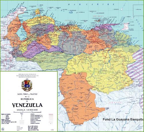 Mapa rodoviário da Venezuela
