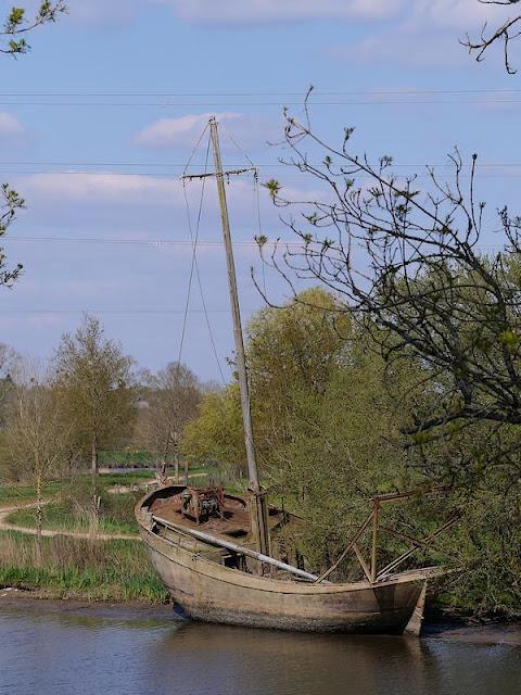 Au départ de Redon, à la Belle Anguille, le chemin de halage