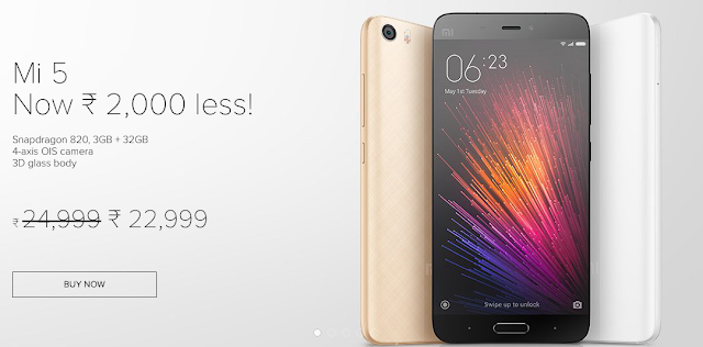 Xiaomi slashes price of Mi 5 which is now available for Rs. 22999