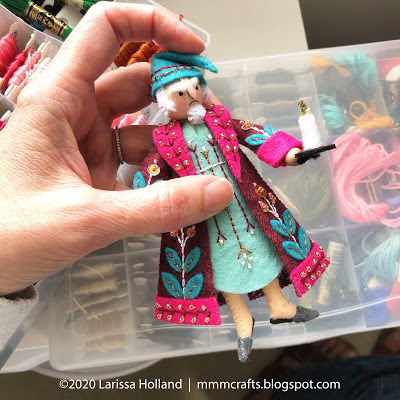 Prototype for Scrooge - a doll by Larissa Holland
