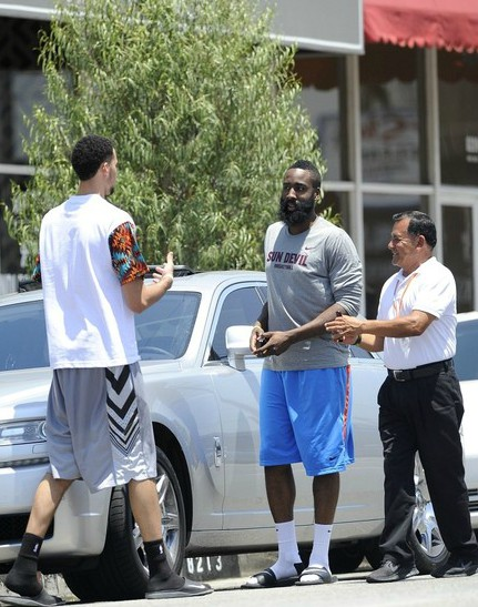 James Harden with his car