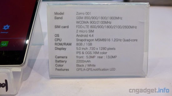 Cubot Zorro 001 4g Lte Snapdragon Dual Sim Phone Spotted