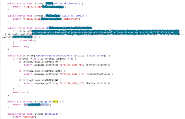 Evidencias de Hardcode Claves en Texto-Plano (acceso API y uso de servicio web) imagen
