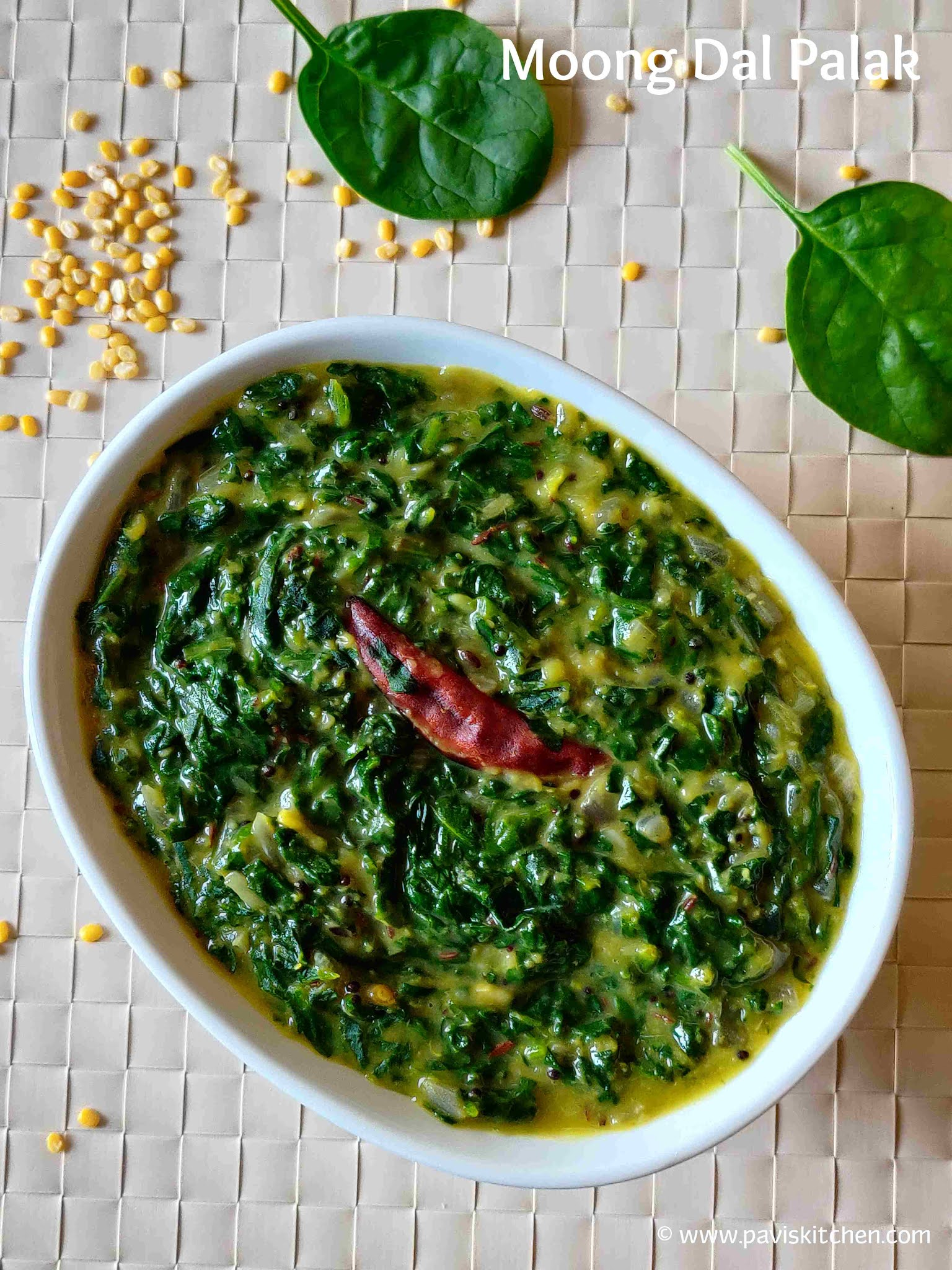 Moong Dal Palak Recipe | Spinach Dal | Palak Dal Curry