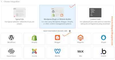 Set Up Free Web Push Notifications for Blogger blog 4