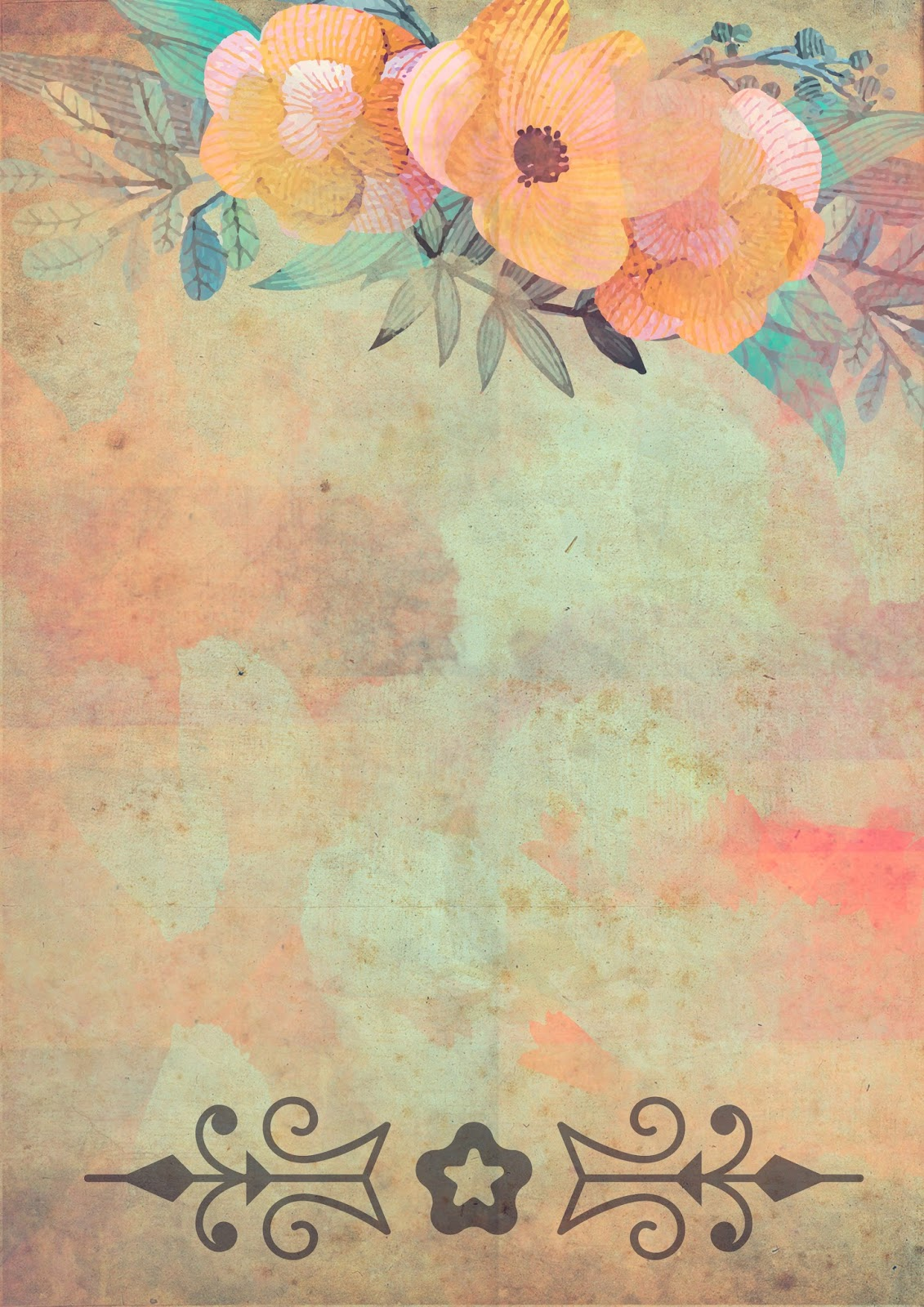 Papeles vintage imprimibles gratis para collage for Papel de paisajes para paredes
