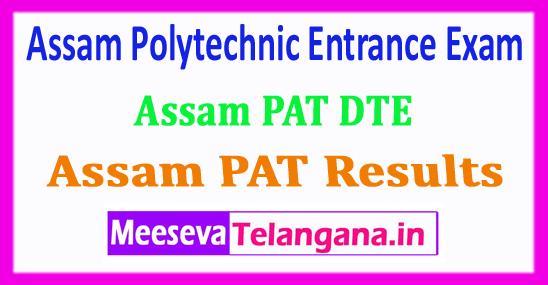 Assam PAT Result 2018 Assam Polytechnic Entrance Exam 2018 Result