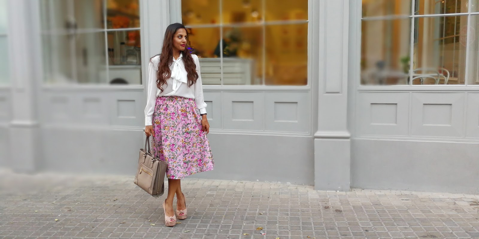 White + Pink Floral and Plans for The Long Eid Weekend