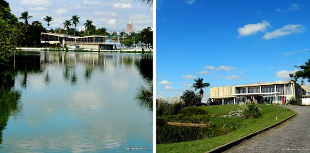 Iate Clube da Pampulha e Museu de Arte da Pampulha, em Belo Horizonte
