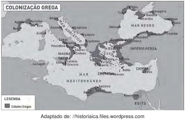 No Período Clássico, a expansão das fronteiras geográficas das cidades gregas foi resultado de um processo histórico envolvendo as condições culturais, sociais, políticas e do conhecimento