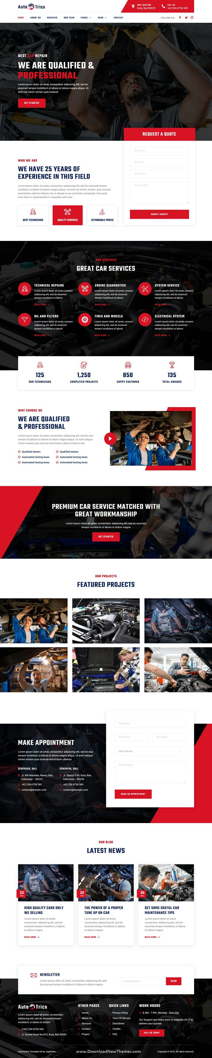 Car Repair and Auto Service Elementor Template Kit