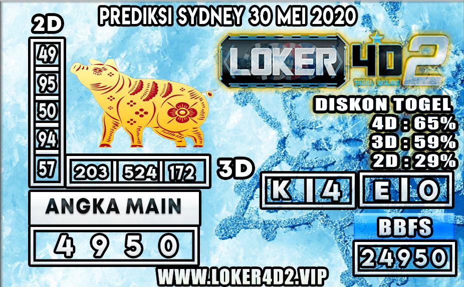 PREDIKSI TOGEL SYDNEY LOKER4D2 30 MEI 2020