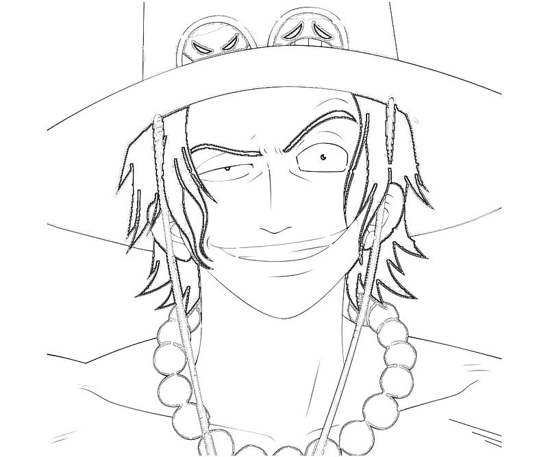 Printable One Piece Portgas D Ace Portrait Coloring Pages