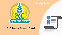 AIC India Administrative Officer Scale Admit Card