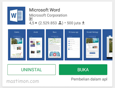 Cara mengetik WORD di HP Android dan menyimpannya