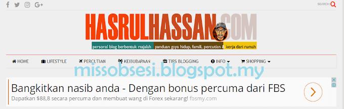 Tersenarai Bloglist Tuan Hasrul Hassan & Cara Memanfaatkannya
