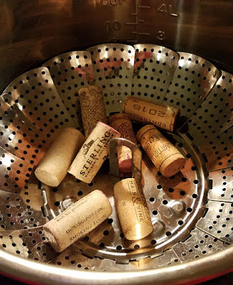 Tutorial on peeling corks with an Instant Pot #clubscrap #instantpot #smokingloon