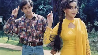 salman khan and madhuri in film 'hum aapke han kaun'