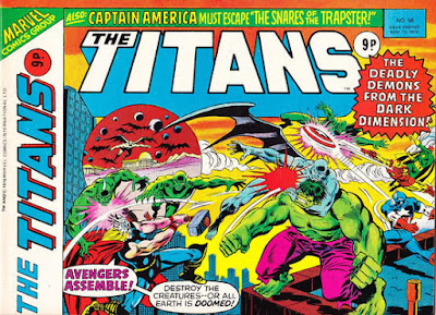 Marvel UK, the Titans #56, The Avengers