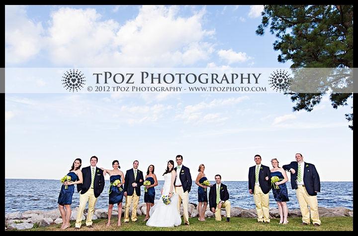 Bridal Party Picture Gibson Island Wedding