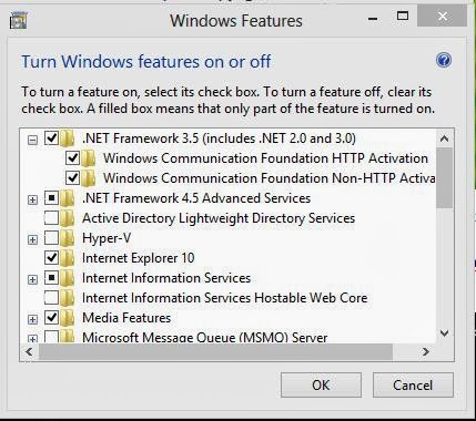 cara install net framework 3.5 include net 2 di windows 8