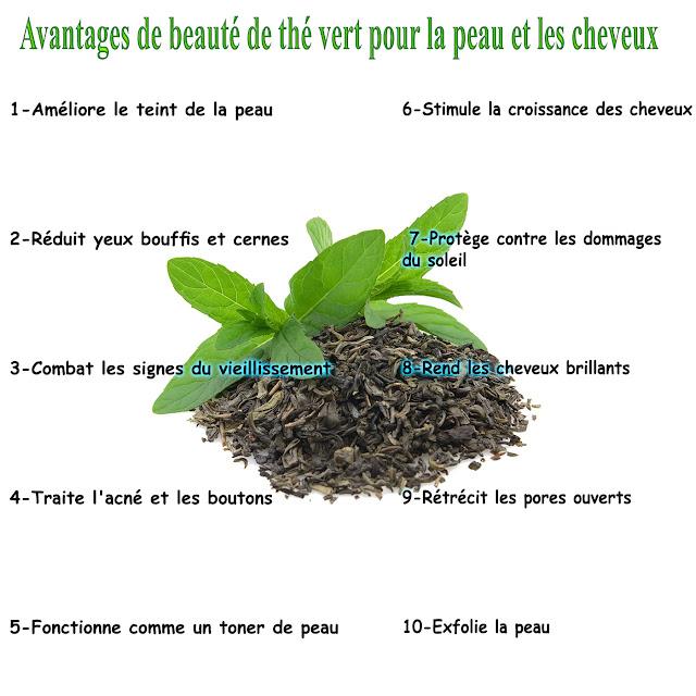 10 Avantages de beauté de thé vert pour la peau et les cheveux