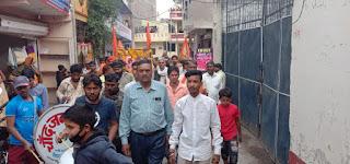 पीथमपुर नगर पालिका क्षेत्र में निकली राम जी की पालकी यात्रा