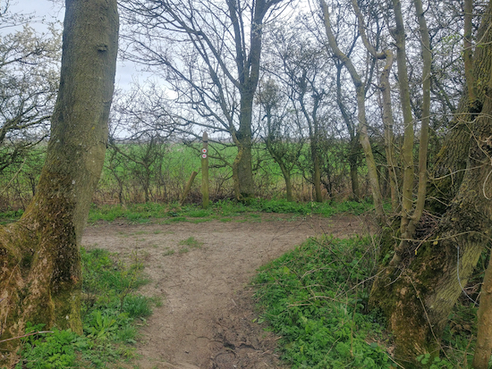 The junction of Wakeley bridleway 10 and Great Mundon BOAT 59