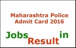 Maharashtra Police Admit Card 2016