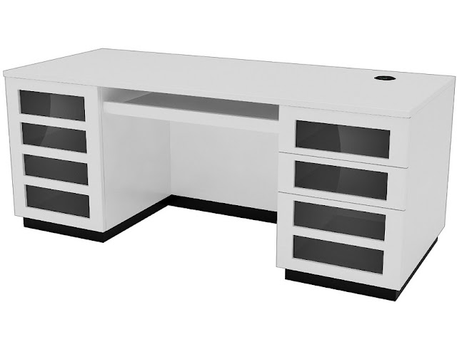 modern white gloss office furniture pictures