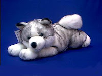 jumbo large Siberian husky plush stuffed animal toy mush