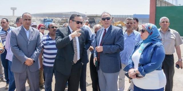 محافظ اﻹسكندرية يتفقد المحطة الوسيطة بأم زغيو بحي العجمي