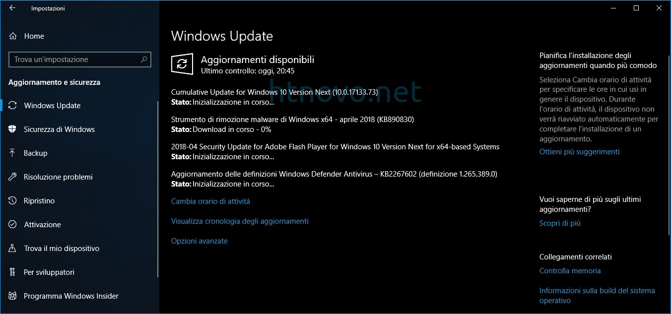 Windows-10-Update-Versione-1803-Build-17133-73