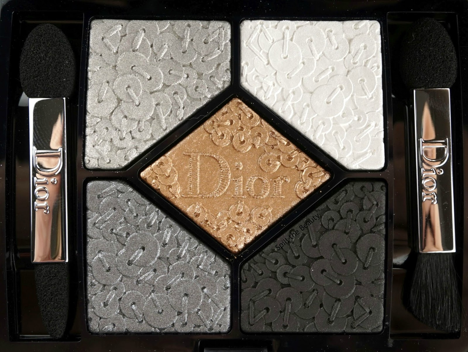 dior holiday makeup 2016 9 review swatch 5 couleurs splendor palette smoky sequins