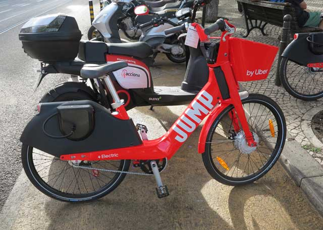 Jump electric bicycle from Uber