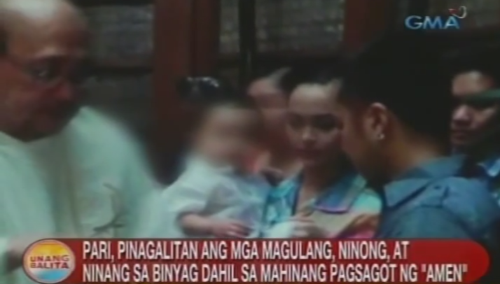 EDSA Shrine Parish Christening Issue with Alleged Rude Priest