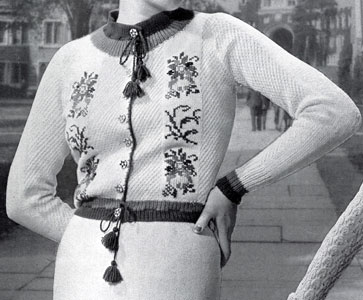The Vintage Pattern Files: Free 1930's Knitting Pattern - Edelweiss Modeen Jacket