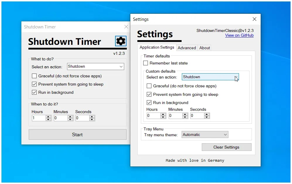 Shutdown Timer Classic : Διαχειριστείτε τις επιλογές παροχής ενέργειας στον υπολογιστή σας