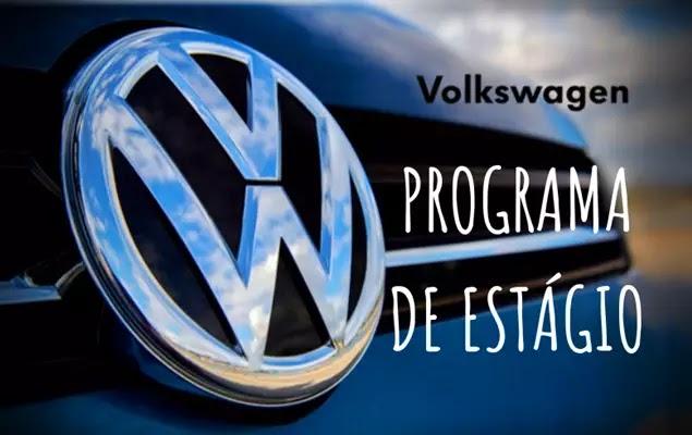 Volkswagen  Brasil abre inscrições com130 vagas de estágio para estudantes de Ensino técnico e Superior; inscrições até o dia 28 de fevereiro.