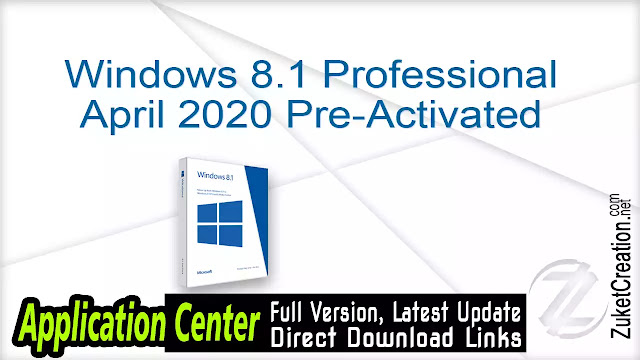 Windows 8.1 Professional April 2020 Pre-Activated