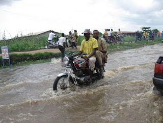 Flooding in Cotonou the economic center of Benin Africa