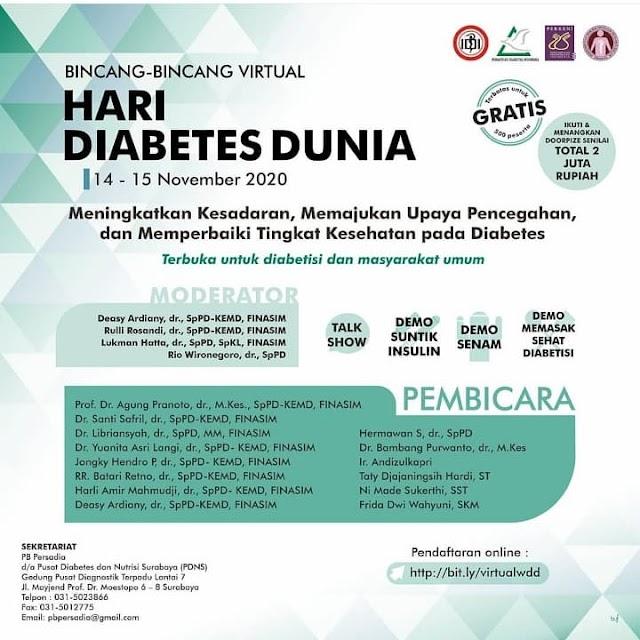 """Virtual Talkshow World Diabetes Day"""
