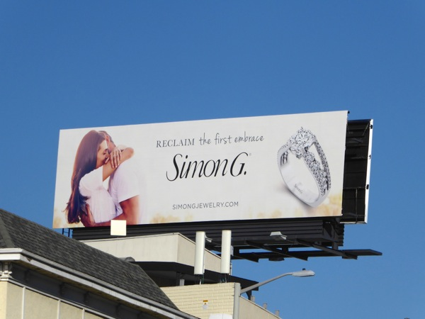 Reclaim first embrace Simon G jewelry billboard