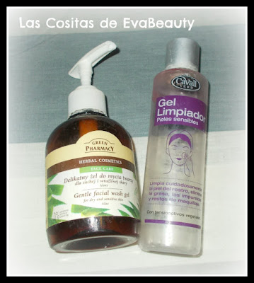 Gel limpiador facial cavall verd y de aloe vera de green pharmacy